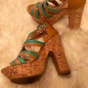 BCBG wedge heels